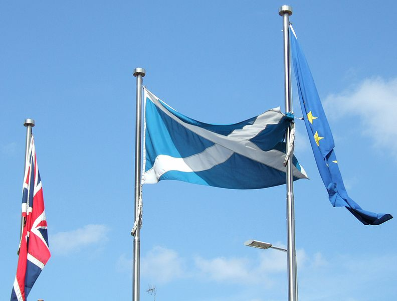 flags-outside-scottish-parliament