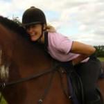 Katharine Gray on horse